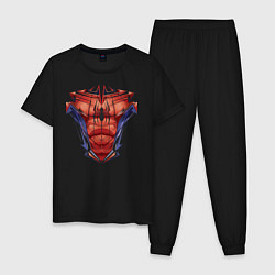 Пижама хлопковая мужская Spider-Man цвета черный — фото 1