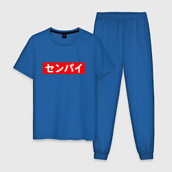 Пижама хлопковая мужская SENPAI цвета синий — фото 1