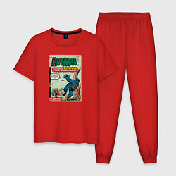 Пижама хлопковая мужская Ant-man цвета красный — фото 1