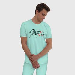 Пижама хлопковая мужская STRAY KIDS FELIX цвета мятный — фото 2