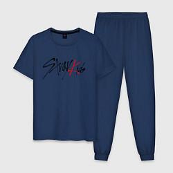 Пижама хлопковая мужская STRAY KIDS FELIX цвета тёмно-синий — фото 1