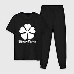 Пижама хлопковая мужская Black Clover цвета черный — фото 1