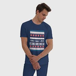 Пижама хлопковая мужская Звездные войны вязка цвета тёмно-синий — фото 2