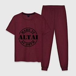 Пижама хлопковая мужская Made in Altai цвета меланж-бордовый — фото 1