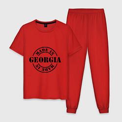 Пижама хлопковая мужская Made in Georgia (сделано в Грузии) цвета красный — фото 1