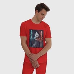 Пижама хлопковая мужская GONE Fludd цвета красный — фото 2