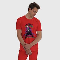 Пижама хлопковая мужская The Jokes on You цвета красный — фото 2