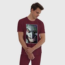Пижама хлопковая мужская Joker цвета меланж-бордовый — фото 2