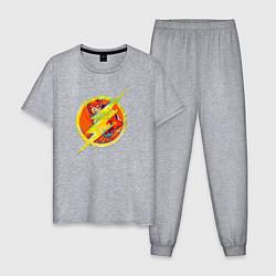 Пижама хлопковая мужская Flash цвета меланж — фото 1