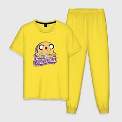 Пижама хлопковая мужская Pretty Big Whoop цвета желтый — фото 1