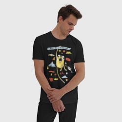 Пижама хлопковая мужская Happy Jake цвета черный — фото 2