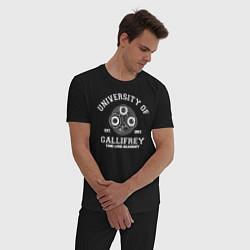 Пижама хлопковая мужская Доктор Кто, Галлифрей цвета черный — фото 2