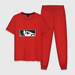 Пижама хлопковая мужская Токийский гуль цвета красный — фото 1