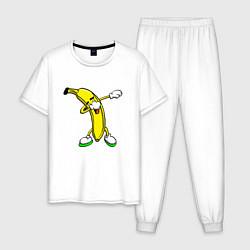 Пижама хлопковая мужская Dab Banana цвета белый — фото 1