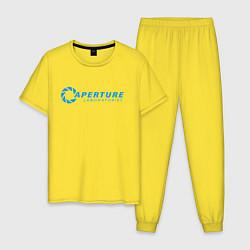 Пижама хлопковая мужская PORTAL цвета желтый — фото 1