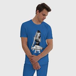 Пижама хлопковая мужская ARIANA GRANDE цвета синий — фото 2