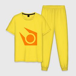 Пижама хлопковая мужская Half-life:Combine logo цвета желтый — фото 1