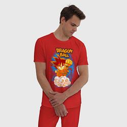 Пижама хлопковая мужская Little Goku цвета красный — фото 2