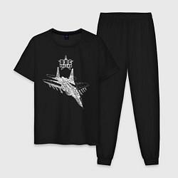 Пижама хлопковая мужская ВВС России цвета черный — фото 1