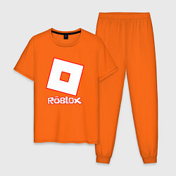 Пижама хлопковая мужская ROBLOX цвета оранжевый — фото 1