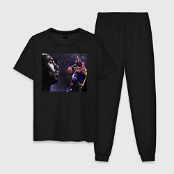 Пижама хлопковая мужская Коби Брайант черная Мамба цвета черный — фото 1