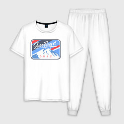 Пижама хлопковая мужская Эльбрус 5642 цвета белый — фото 1