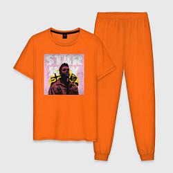 Пижама хлопковая мужская STARBOY цвета оранжевый — фото 1