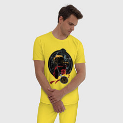 Пижама хлопковая мужская Стальной алхимик цвета желтый — фото 2