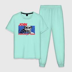 Пижама хлопковая мужская Ferguson team цвета мятный — фото 1