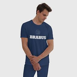 Пижама хлопковая мужская BRABUS цвета тёмно-синий — фото 2