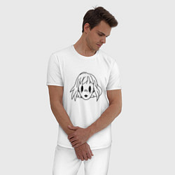 Пижама хлопковая мужская ПОШЛАЯ МОЛЛИ цвета белый — фото 2
