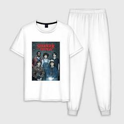 Пижама хлопковая мужская Stranger Thing цвета белый — фото 1