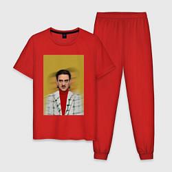 Пижама хлопковая мужская Little Big: Banana Man цвета красный — фото 1