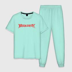 Пижама хлопковая мужская Megadeth цвета мятный — фото 1