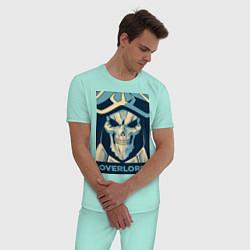Пижама хлопковая мужская Аинз Оал Гоун цвета мятный — фото 2