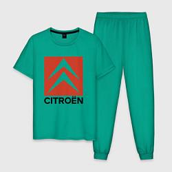 Пижама хлопковая мужская CITROEN цвета зеленый — фото 1