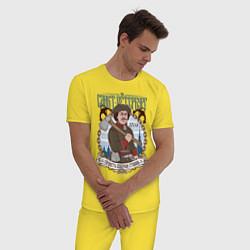 Пижама хлопковая мужская Санкт-Петербург цвета желтый — фото 2