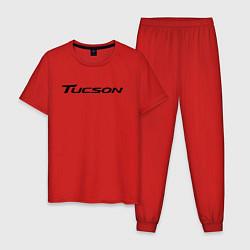 Пижама хлопковая мужская HYUNDAI TUCSON цвета красный — фото 1