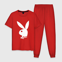 Пижама хлопковая мужская PLAYBOY цвета красный — фото 1