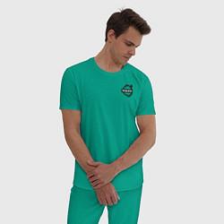 Пижама хлопковая мужская VOLVO цвета зеленый — фото 2
