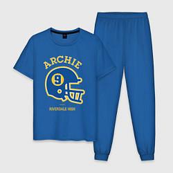 Пижама хлопковая мужская ARCHIE цвета синий — фото 1