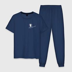 Пижама хлопковая мужская BoJack Horseman цвета тёмно-синий — фото 1