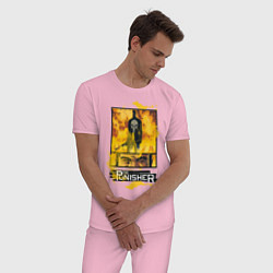 Пижама хлопковая мужская The Punisher цвета светло-розовый — фото 2