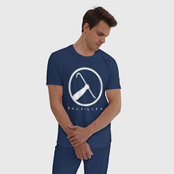 Пижама хлопковая мужская HALF-LIFE цвета тёмно-синий — фото 2