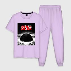 Пижама хлопковая мужская AKIRA цвета лаванда — фото 1