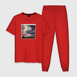 Пижама хлопковая мужская The Killers цвета красный — фото 1
