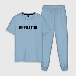 Пижама хлопковая мужская PREDATOR цвета мягкое небо — фото 1