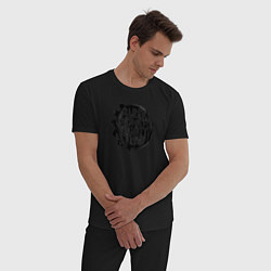Пижама хлопковая мужская Blink 182 цвета черный — фото 2