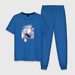 Пижама хлопковая мужская Тима Белорусских: Найду тебя цвета синий — фото 1