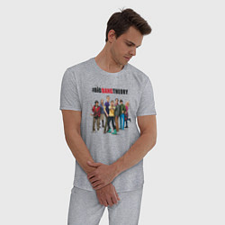 Пижама хлопковая мужская Heroes of the Big Bang Theory цвета меланж — фото 2